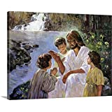 """Hal Frenck Premium Thick-Wrap Canvas Wall Art Print Entitled Christ and The Children 24""""x18"""""""