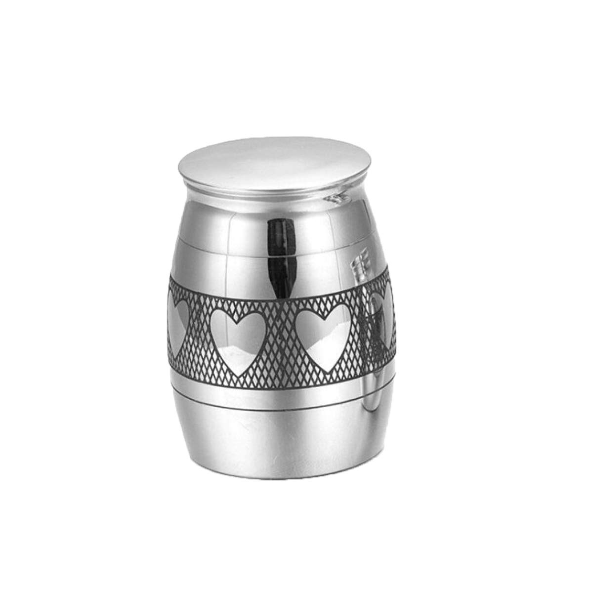 4029mm XIAN Ashes, Titanium Steel, Openable, Ashes, Jars, Souvenirs, Pets, Dogs and Urns, Placed, Heart (Size   40  29mm)