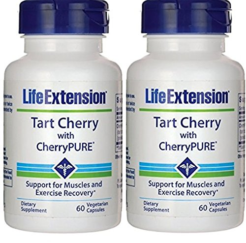 Life Extension Tart Cherry Extract w/ Standardized CherryPURE 60 Capsules (2 Pack)