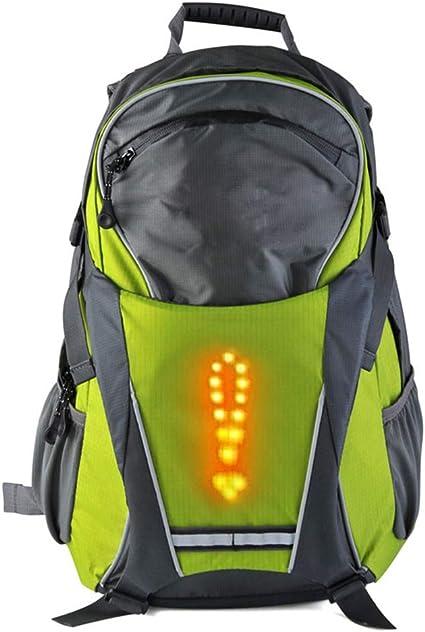MJW LED Clignotant Sac À Dos Sac À Dos, Vélo sans Fil Télécommande LED  Avertissement Sac À Dos, Vélo Étanche Extérieur/Course À Pied/Marche 18L