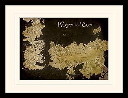 Game Of Thrones 30 x 40 cm de Juego de Tronos Poniente y Essos mapa ...