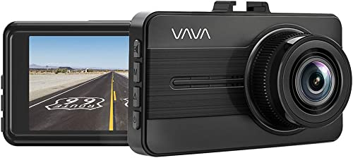 VAVA Dash Cam 1080P Full HD Car DVR Dashboard Camera, Driving Recorder with 3 Inch LCD Screen, 140 Degree Wide Angle, WDR, G-Sensor, Motion Detection, Loop Recording