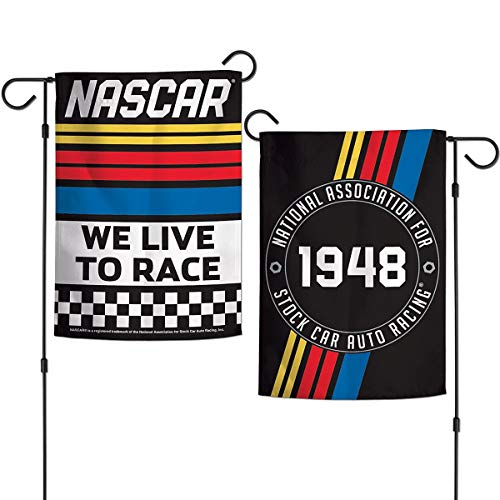 (Wincraft NASCAR We Live to Race Double Sided Garden Banner)