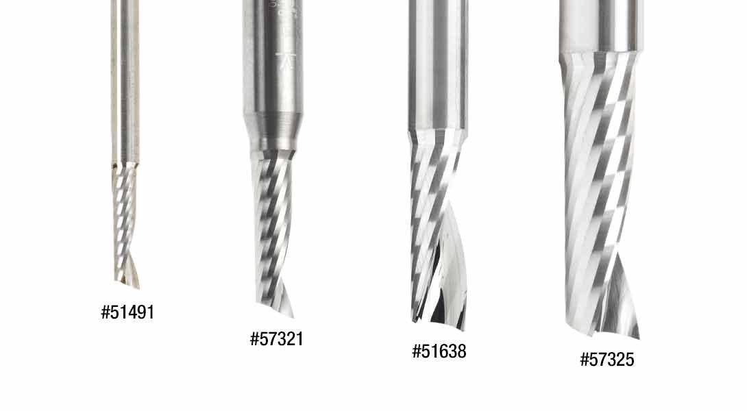 57312 Metric Solid Carbide CNC Spiral O Single Flute Plastic Cutting 2.5 D Amana Tool