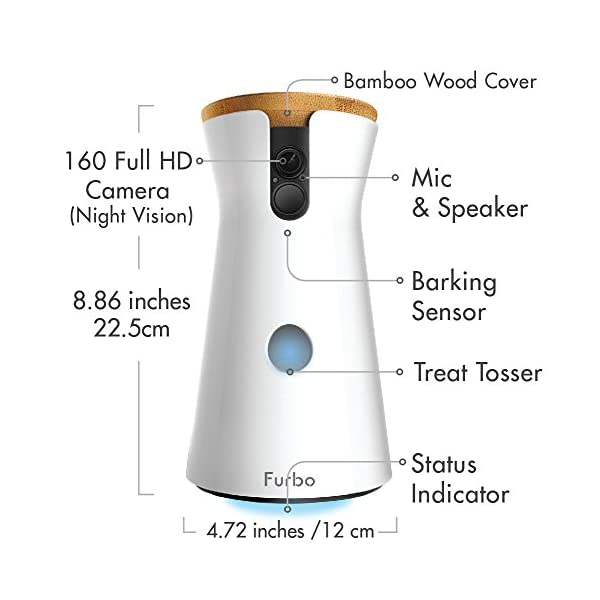 Furbo Dog Camera: Treat Tossing, Full HD Wifi Pet Camera and 2-Way Audio, Designed for Dogs, Compatible with Alexa (As Seen On Ellen) 2