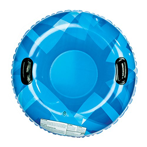 Aqua Leisure Single Rider Winter Inflatable Round Snow Tube Sled  with 2 Big Grip Handles and Repair Kit, 32-Inch
