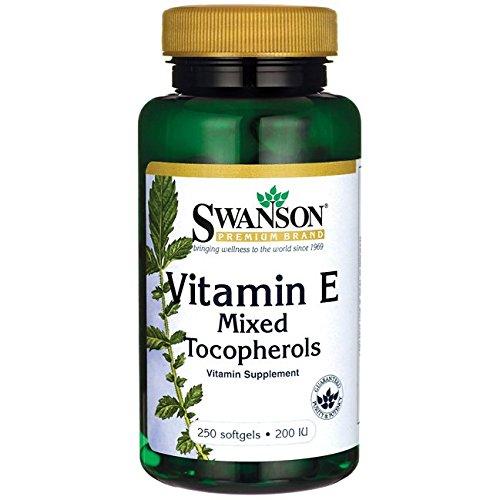 200 Iu Natural - Swanson Vitamin E Mixed Tocopherols 200 Iu (134 Milligrams) 250 Sgels