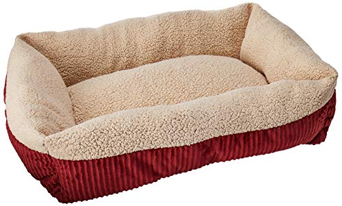 Aspen Pet Self-Warming Corduroy Pet Bed Several Shapes Assorted Colors (Barn Beds)