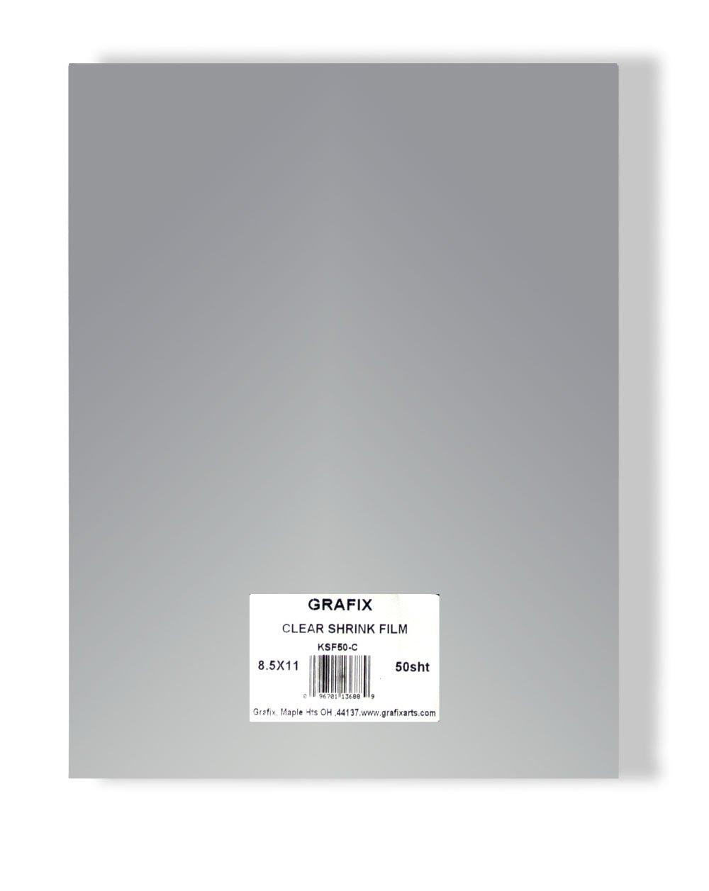 Grafix KSF50-C 8-1/2-Inch by 11-Inch Shrink Film, Clear, 50-Pack