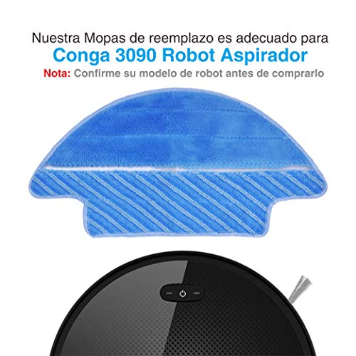 KEEPOW 3 Paño de Repuesto Mojado y seco Compatible Conga 3090 Robot ...