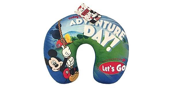 Amazon.com: Disney Mickey Mouse Stars - Almohada de viaje ...