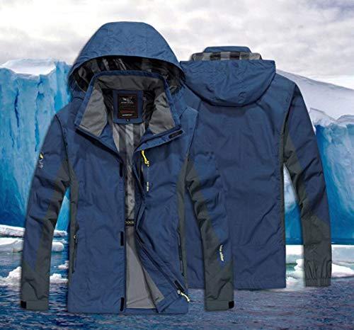 da da da Colore Dimensioni Abbigliamento M M M da da per Giacca Campeggio da Viaggio L Sci di 4XL Blue Grandi NERO Dimensioni Uomo da PFSYR Sky Giacca Impermeabile Esterno Alpinismo Antivento w47n00B