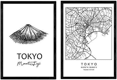Pack de Posters de Tokyo - Monte Fuji. Láminas con monumentos de ...