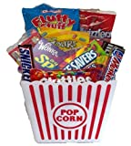 Movie Night Popcorn Tub Loaded with Snacks and Goodies Gift Basket