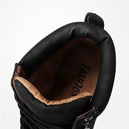 Marrone fondo da 3 Martin CN43 Colore dimensioni Le colori caldo UK8 Nero di calzature FEIFEI antiscivolo 5 morbidi uomo Scarpe Mantenere stivali EU42 sportive xCAPwnFqT