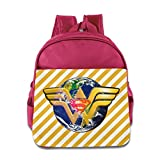 GYB HOME Unisex Wonder Woman Logo Children School Bag Backpack
