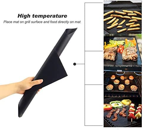 Grill mat 3pcs Reusable Non-Stick BBQ Grill Mat Pad Barbecue Mat Baking Sheet Meshes Portable Outdoor Picnic Cooking Tool Sets QPLNTCQ