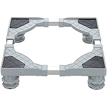 YOMYM Universal Mobile Base with 4 Strong Feet Multi-Functional Adjustable Base for Adjustable Dryer, Washing Machine and Refrigerator