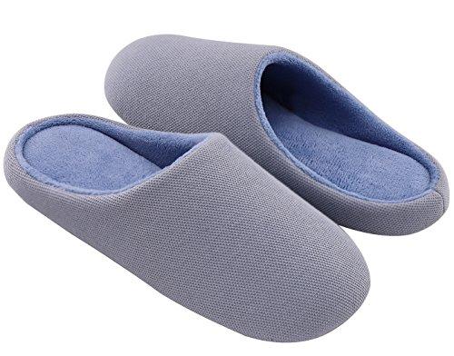 RockDove Women's Memory Foam Terry Dust-Proof Slippers 7-8 B(M) US,Blue by RockDove