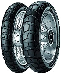 Suitable for both light and heavy enduro bikes. Tire Properties: New tread pattern and knob layout means the footprint area is more uniform and constant providing increased mileage both on and off-road. Larger knobs offer more stability for b...