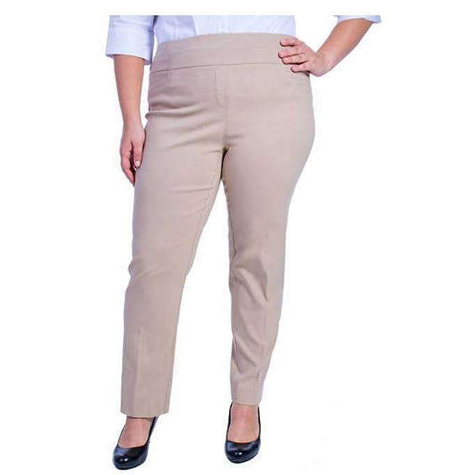 b53a8e448bb George Women s Plus-Size Millennium Suiting Pull-On Pant (2X Plus ...