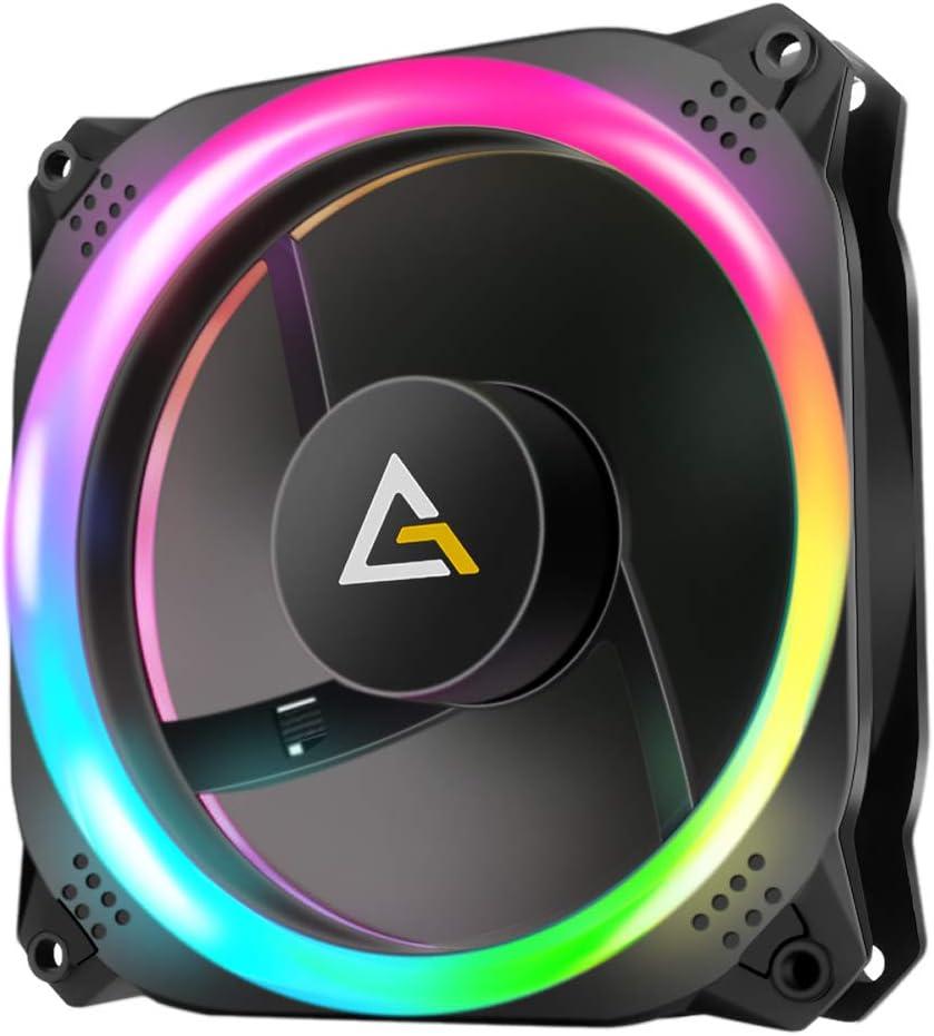 Antec 140mm RGB Case Fan, Addressable RGB Fans, Prizm Series, Single (NO Controller hub Included)