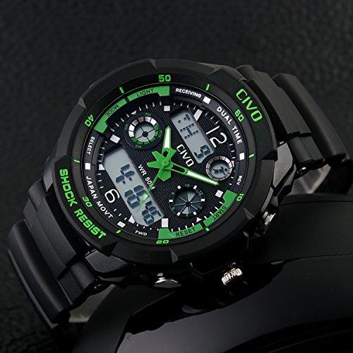 Men's Boy's Analogue Digital Sport Watch Waterproof Business Casual Fashion Military Wrist Watch