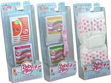 Hasbro Baby Alive Pack Doll Juice Mixes Doll Food And