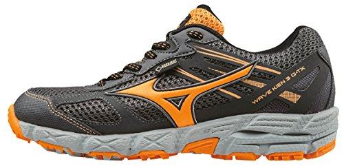 Mizuno SS17 Womens Wave Kien 3 GTX Trail Running Shoes - Grey/Orange - UK 5.5