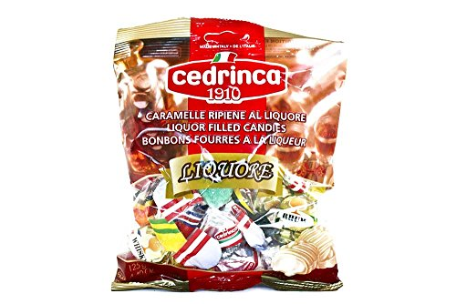 Cedrinca - Italian Liquore Filled Hard Candies, (2)- 4.4 oz. bags