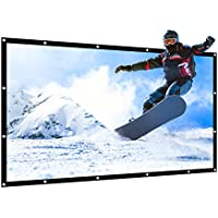 APEMAN 85'' 16:9 Projector Screen Foldable Portable Screen for Home Theater Indoor or Outdoor Presentation