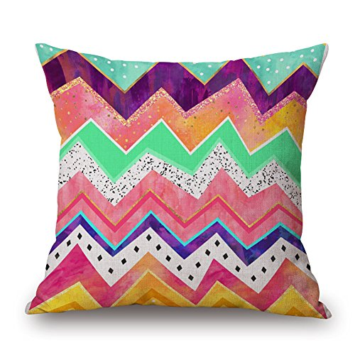 Brushed Cotton Wave - Happy Cool Cotton Linen Fashion Mountainous Watercolour Simple Decorative Throw Pillow Cushion Cover with Brushed Insert 18