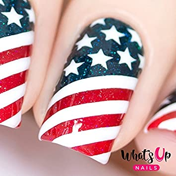 Amazon Whats Up Nails American Flag Vinyl Stencils For Nail