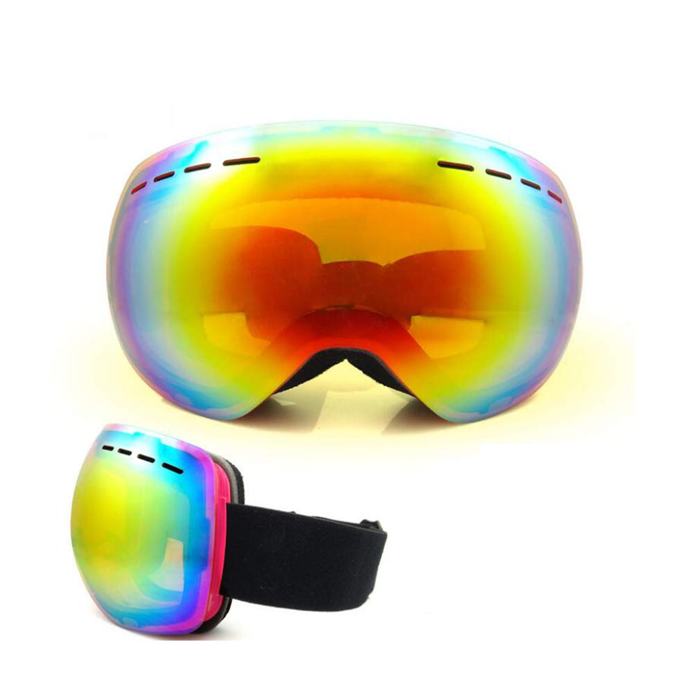 He-yanjing Anti-Fog Jet Snow Skiing Skis Goggles ,Sports Smart Glasses ,Single and Double Board ski Glasses for Men and Women Outdoor Windshield (Color : Black) by He-yanjing