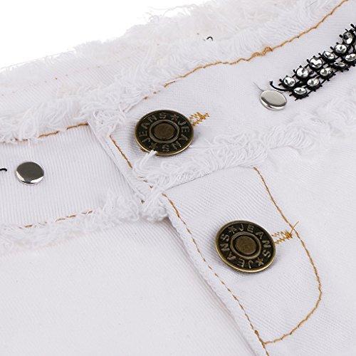 Bassa Vita Denim Donna Baoblaze Eleganti Jeans Corti Bianca Pantaloncini Per Ragazze A Swqn7anTW6