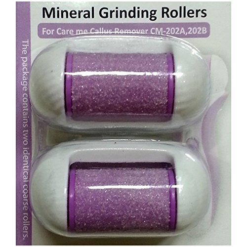Replacement Rollers for Care me Rechargeable Callus Remover (Model# CM202) - Effectively Removes Hard and Cracked Skin and Calluses on Feet - a Pack of 2 (purple) (Care Me Replacement Rollers)