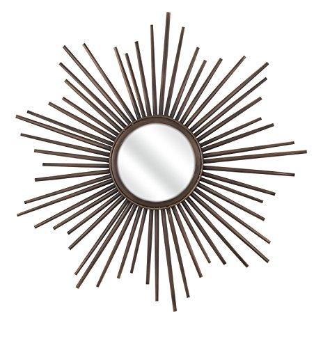 Imax Corporation Berrak Starburst Decorative Mirror in Brown from Imax