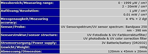 UV Meter Tester Gauge Meter UVA//UVB Sun Sun Rays Sunbed Sun Studio UV7