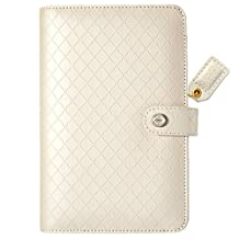 """Color Crush Faux Leather Personal Planner Binder 5.25""""X8""""-Diamond White"""