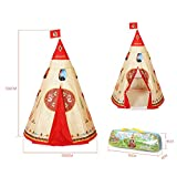 Teepee Play Tent, Ttath Portable Playhouse Indian Tents for Children Indoor Outdoor Use