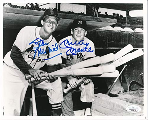 - Mickey Mantle & Stan Musial Dual-Signed/Autographed 8x10 Photo JSA 142487