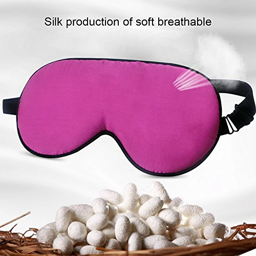 Eye Masks (2 Pack), The KEKU Contoured & Comfortable Sleep Mask,Thickened Comfort & Excellent Elastic Eye Mask with Adjustable Velcro Tape (silk)