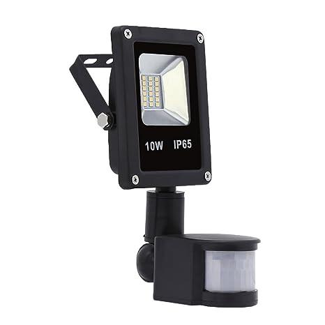 Hengda® 10W Blanco frío Foco proyector Exterior LED detección de movimiento PIR sensor Resistente al