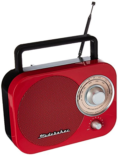 Am Fm Radio Player, Red Studebaker Speaker Outdoor Retro Am-fm Radio Portable