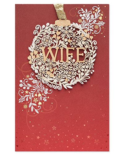 American Greetings Amazing Wonderful Wife Christmas Card for Wife with Glitter