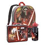 Star Wars Backpack with Lunch Box and Water Bottle Combo - Bundle