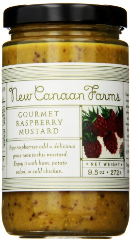 - New Canaan Farms Gourmet Mustard, Raspberry, 8 Ounce