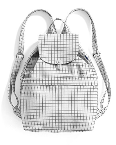 BAGGU Canvas Backpack - Natural Grid