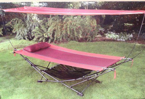 Top Amazon.com : Foldable, Steel-frame Hammock with canopy : Garden  BH78
