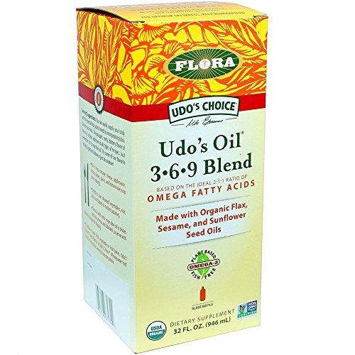 Выбор масла 3.6.9 Смесь 32-унция Стеклянная бутылка Удо